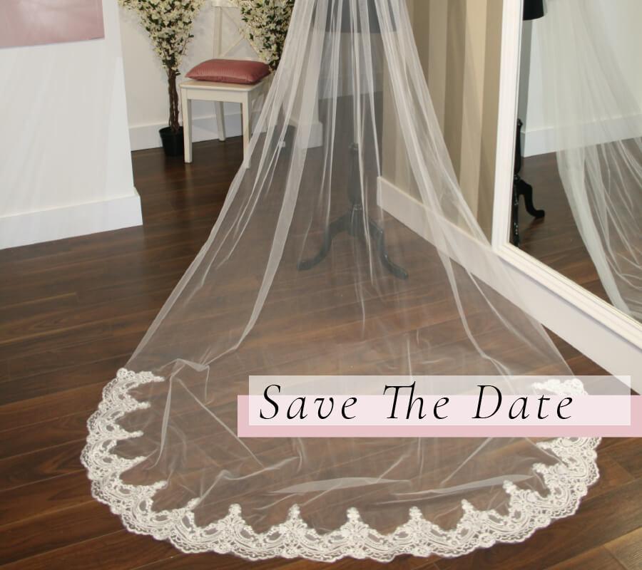Save The Date Veils - La Bella Sposa